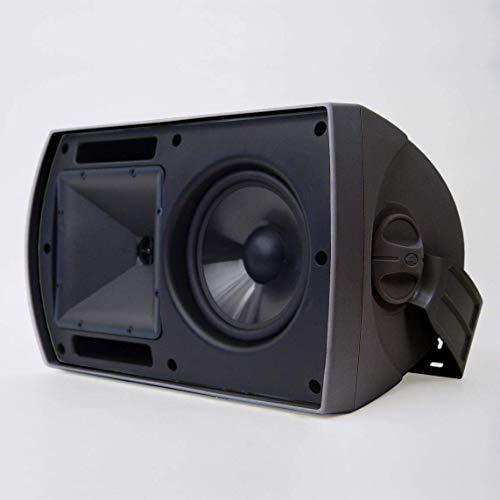 Klipsch AW-650 Indoor/Outdoor Speaker - Black (Pair) (Renewed)