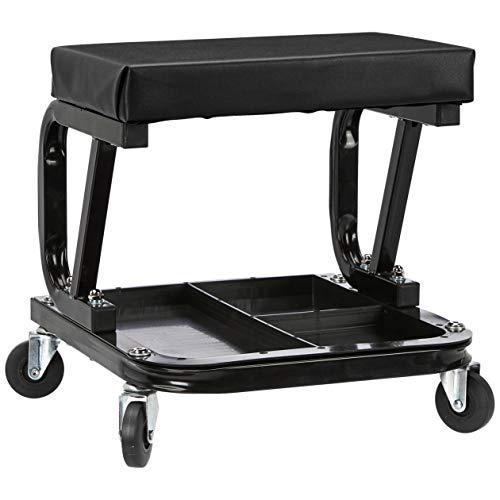 AmazonBasics Rolling Creeper, Garage/Shop Seat with...