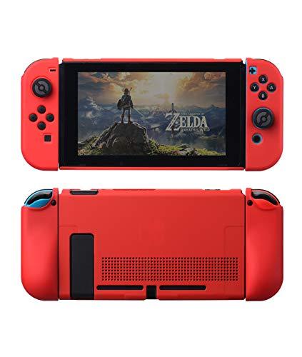 VOGOUL Schutzhülle für Nintendo Switch, Hülle mit robuster, kratzfester, stoßfester Abdeckung, Split-Design, weiches Zubehör für Nintendo Switch Konsole (rot)