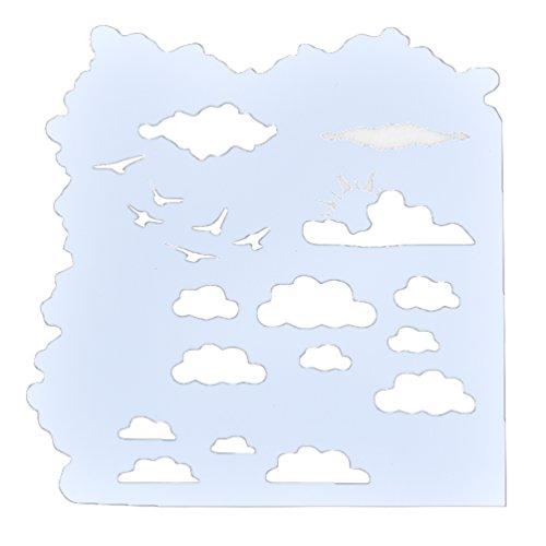 Kesheng Schablone Wolke Zahlen Blumen Herz Vogel Wand Möbel Textilien Verzierung