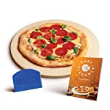 Cast Elegance Theramite Durable Pizza and Baking Stone for Oven and Grill, Includes Recipe E-Book &...