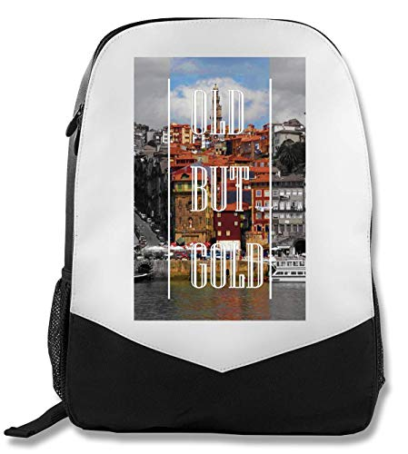 Old But Gold | Series | Porto Town | Popular Words | Osom Quotes | Cool T Shirt | Nice to | Super | Beautiful Landscape | Yolo Swag Rucksack