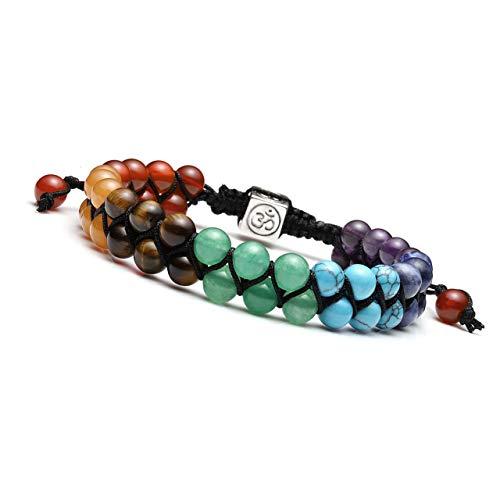 JOVIVI 7 Chakra Reiki Healing Crystal Gemstone Yoga Stone Beaded Braided...