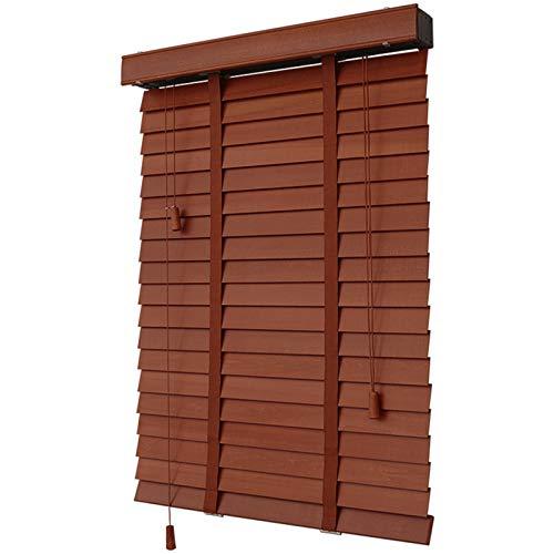 Holz Jalousien Für Den Innenbereich,Verdunkelungs-/Wärmedämmung,Echtholz Jalousien,Dunkle Eiche,Fenster-/Bürodekoration,70x120cm/28x47in