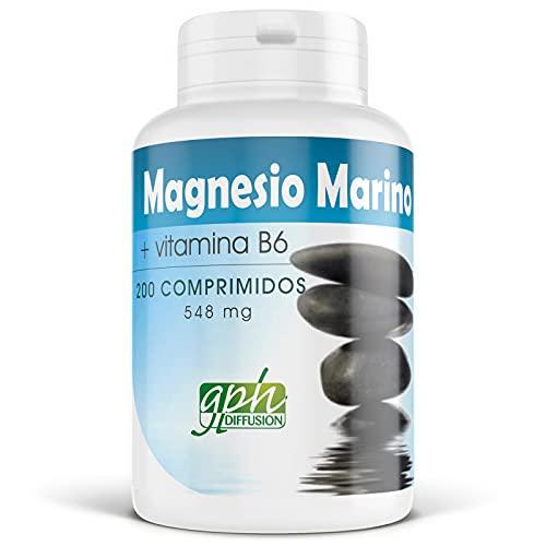 Magnesio marino y Vitamina B6-548 mg - 200 comprimidos
