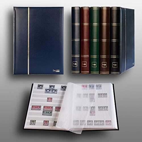 Prophila Leuchtturm Album pour Timbres, 60 Pages, intérieur Blanc (couv. Bleu)
