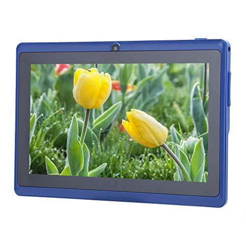 Rosvola Kid Tablet PC, Tableta Azul Suave y Liviana para Acampar para la Escuela para niños para Viajes(European regulations)