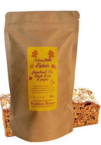 Mix preparato per pan di zenzero fatto in casa 100 g | Mix per pane speziato Tradition Nature