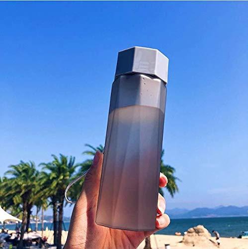 FEJK Miscelatore per Borraccia My Sports Drink Bottle Pompa per Acqua Protein Square Campeggio glassato Spazio Esterno Bicchiere in plastica 380Ml