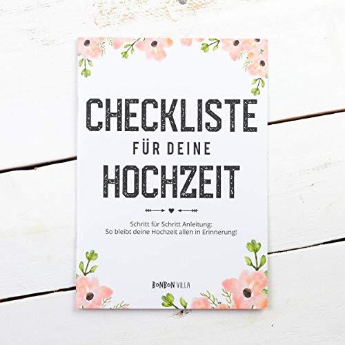 Checkliste für deine Hochzeit, Hochzeitsplanung, Hochzeitsplaner, Hochzeitscheckliste