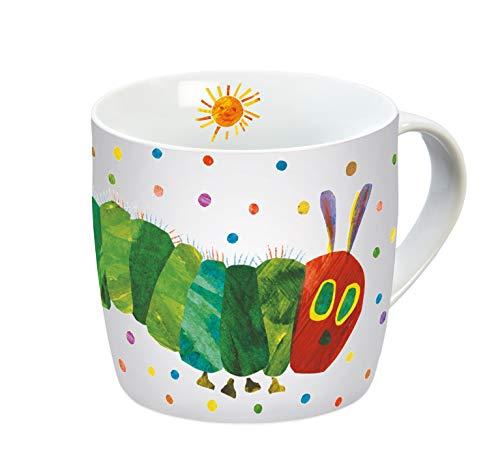 Raupe Nimmersatt 12168 Sonne Tasse, Porzellantasse, Kaffeetasse, Kindertasse, Porzellan, Mehrfarbig