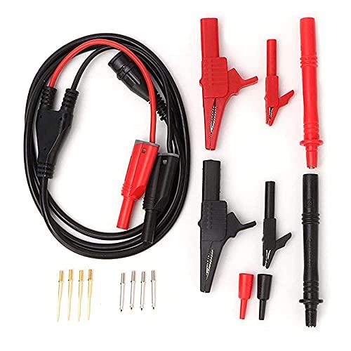 Sanzang P1800A BNC BNC Cable de Enchufe de 4 mm Plátano Plátano Cocodrilo Clip Multímetro Prueba Kit de Plomo Multímetro electrónico Placa de Prueba Kit
