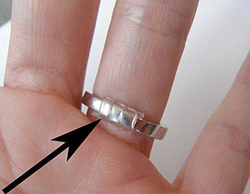 RinGuard Ring Size Adjuster with Jewelry Polishing Cloth (Set of 3 Sizes)
