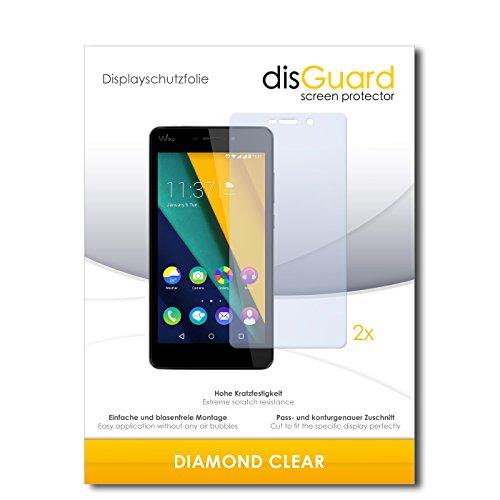 disGuard 2 x Bildschirmschutzfolie Wiko Pulp Fab 4G Schutzfolie Folie DiamondClear unsichtbar