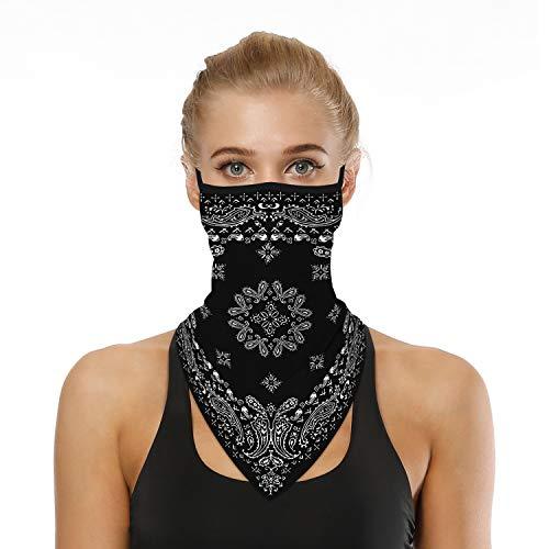 DRESHOW Face Shield Multifunktionstuch Motorrad Flexibel Stirnband Kopftuch Neck Gaiter Mundschutz UVSchutz Winddicht Motorrad Wandern für Damen Herren