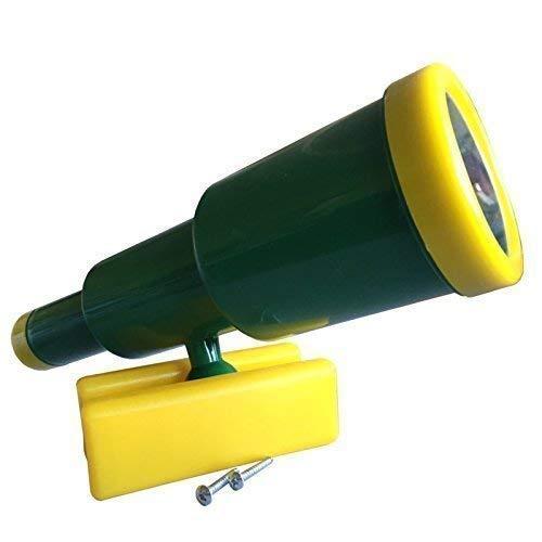 Loggyland Großes Teleskop Fernrohr für Spieltürme, (grün/gelb)