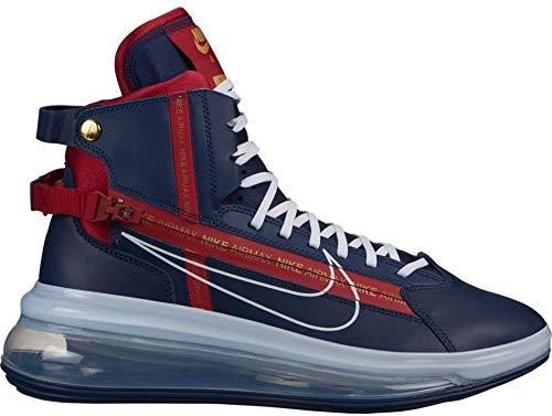 Nike AO2110-400 Air Max 720 SATRN Midnight Azul Marino/Blanco/Rojo Gym Rojo, (Azul marino medianoche, blanco y rojo gimnasio.), 45 EU