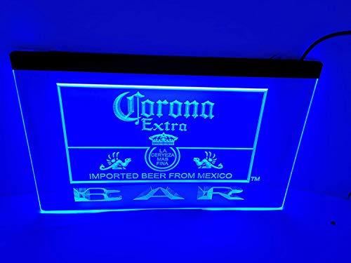 Corona Bar Bier Extra LED Schild Neon Light Man Cave 418-b