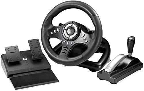 MHSHYSQ Volant De Jeu, 180 Degrés Ordinateur Universel USB, Vibration, Vélo De Course Et La Pédale, Simulateur De Jeu De Course, pour Xbox 360 Ps2 Ps3 P