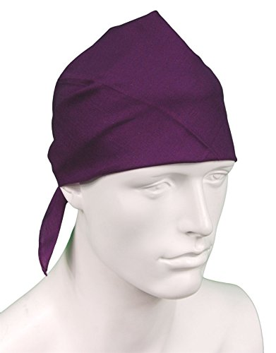 plain PURPLE cotton bandana headscarf by TC-Accessories