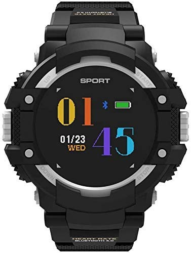 JIAJBG Rastreador de Fitness F7 Reloj Inteligente/Reloj de Ritmo Cardíaco Neumático Gps Posicionamiento Pista Bluetooth Reloj Ip67 Protección Nivel Profundidad Impermeable, Sier S