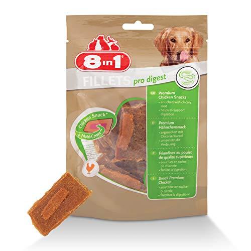 8in1 Fillet Pro Digest Friandises pour chiens adultes et seniors de grandes races – Favorise la santé digestive – Au poulet – 80g