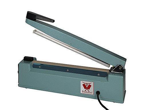Beeketal 'BP300FS' Profi Impuls Tisch Schweißgerät (keine Aufwärmzeit) mit 300 mm Schweißlänge und 8 mm Schweißbreite, Folien Schweißzeit von 1-8 Sek, Balkenschweißgerät mit Gusseisen Gehäuse