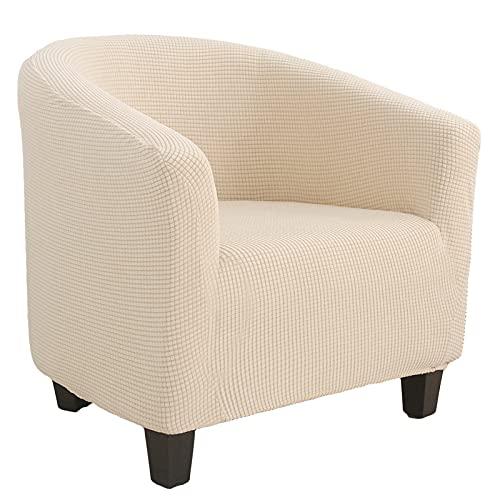 laamei Copripoltrona Chesterfield Elasticizzato Universale Rimovibile e Lavabile Jacquard Antiscivolo 1-Pezzo Fodere Coprisedia Tub Chair Copridivano