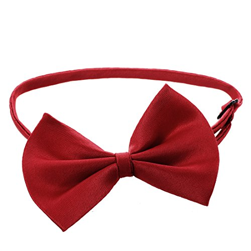 Gaetooely Collar Ajustable de Gato Lazo de Mascota Corbata del Perro Mascota Accesorios para Perros Lindo Rojo de Vino