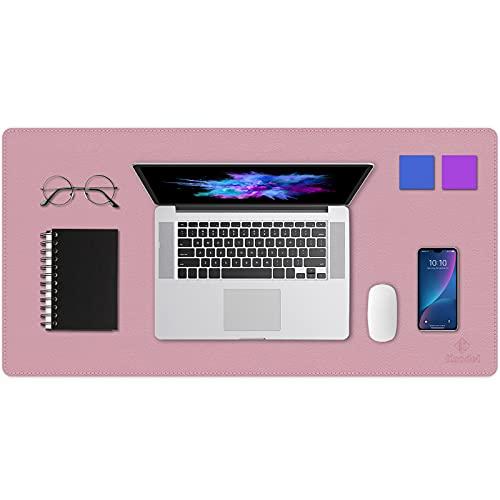 Upgrade Knodel Alfombrilla de escritorio, 40cm x 80cm Estera del escritorio de oficina, Vade para escritorio hecho de cuero PU, alfombrilla del escritorio del ordenador portátil, Doble cara