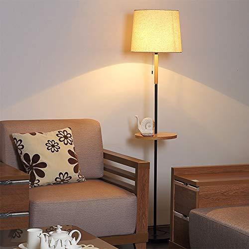 WXWU Lámpara de pie Sala de Estar Mesa de café Mesa IKEA Estante lámpara jardín Americano Dormitorio mesilla de Noche-D6