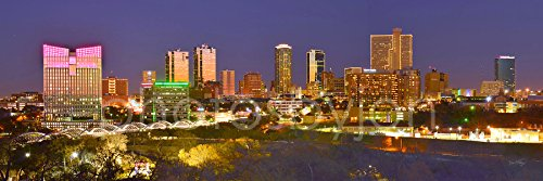 Fort Worth Texas Skyline Photo Print UNFRAMED Choose from 3 Styles 11.75 inches x 36 inches Photographic Panorama Poster Picture Standard Size