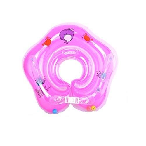 TGTB Babypool-Schwimmer, Baby schwimmring Hals, aufblasbare Kinder Schwimmen Schwimmer, Baby-Schwimm-Hals-Ring mit Glocken, Kinder-Schwimm-Hals-Ring für Baby Kinder Infant für 0-12 Monaten (Rosa)