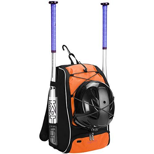 AmazonBasics - Rucksack für Baseball-Ausrüstung für Jugendliche, Orange