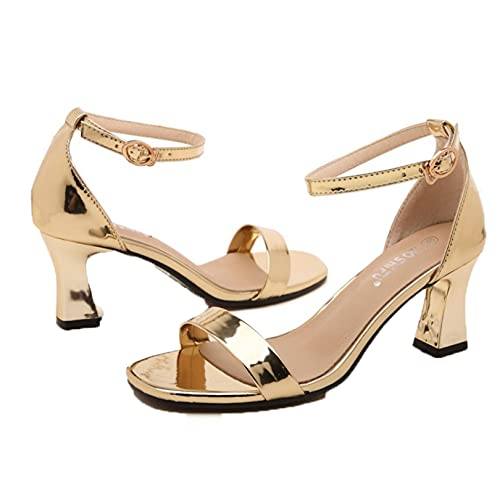 Sandalias de mujer Breathe Block Heel Summer Gladiator Peep Toe Beach Shoes Tobillo Hebilla Calzado Street Party Sandalias de boda
