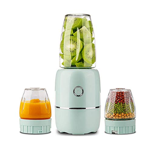 SXXYTCWL Portable Juicer Thickened Glass Without BPA Juicer Cup Small USB Rechargeable Fruit and Vegetable Juicer Food Supplement Machine Suitable for Home Office Outdoor Travel (Green)