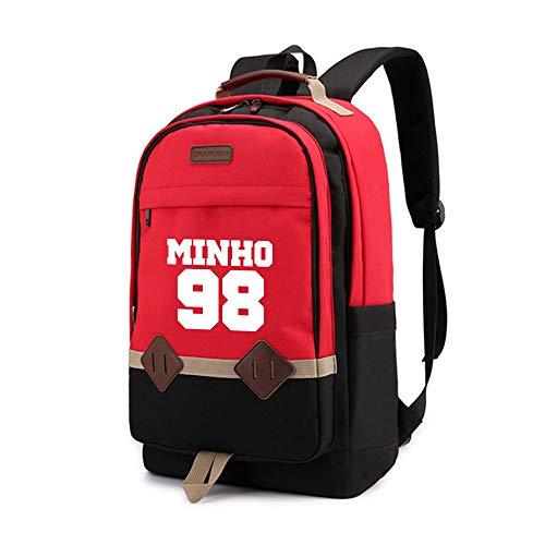 Stray Kids Tendencia de la Moda Mochila Deportivas al Aire Libre y Mochilas Impreso Daypack Daypacks Casual para Mujeres y Hombres (Color : Red25, Size : 30 X 16 X 45cm)