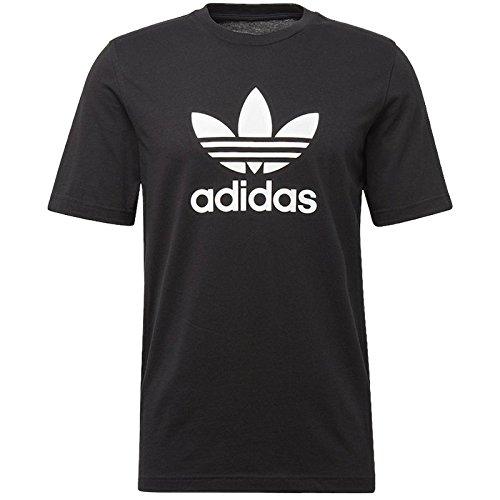 Adidas Trefoil T-Shirt, Uomo, Nero Black), Medium (Taglia produttore:M)