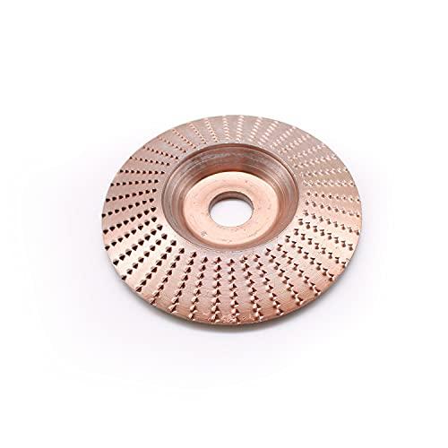Her Kindness - Disco de pulido de madera dorada, disco de madera con diámetro exterior de 100 mm y diámetro interior de 16 mm para carpintería, lijado, tallado