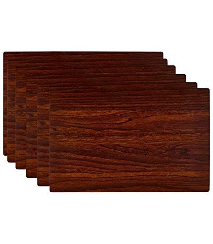 Set de Table Design Bois Foncé en Vinyle - Set de 6