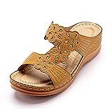 WXDC Zapatos de Verano de Fondo Suave para Mujer, Zapatos de cuña para Mujer con Tacones, Sandalias de Verano Informales para la Playa para Mujer