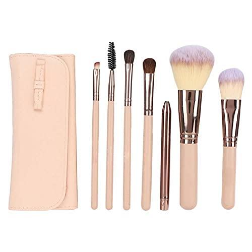 Juego de brochas de maquillaje rosa suelta polvo brus para rubor para la belleza para la mujer para el polvo para el maquillaje diario
