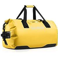 Gonex Bolsa de Viaje Impermeable 80 L, Bolsa Seca Duradera para Viajes, Utilizada para pasear en Kayak, Rafting, Pesca, Camping, Camping, Senderismo, Aventura al Aire Libre, Amarillo