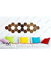 Naveed Arts - Acrylic Hexagon Wall Decor - 20 Hexagon - Bronze Mirror - JB042BRM20 Factory Outlet