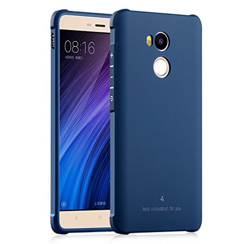 FaLiAng XiaoMi RedMi 4 Pro Funda, Serie Negocios A Prueba de Choques Ultra Fino Suave Silicona Contraportada Caso para XiaoMi RedMi 4 Pro (Azul)