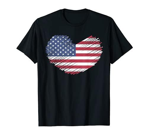 american flag distressed heart america