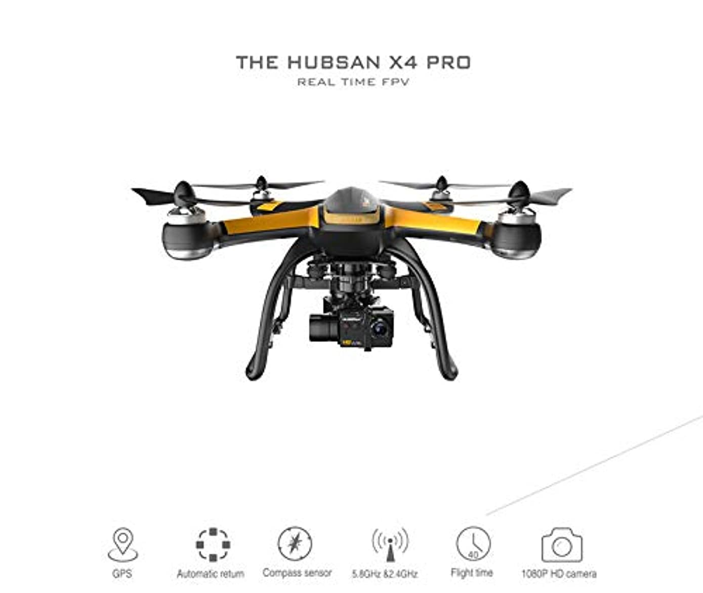 ETbotu Hubsan X4 Pro H109S 5.8G FPV RC Drone with 1080P HD Camera 3 Axle Gimbal GPS Quadcopter RTF US Regulations
