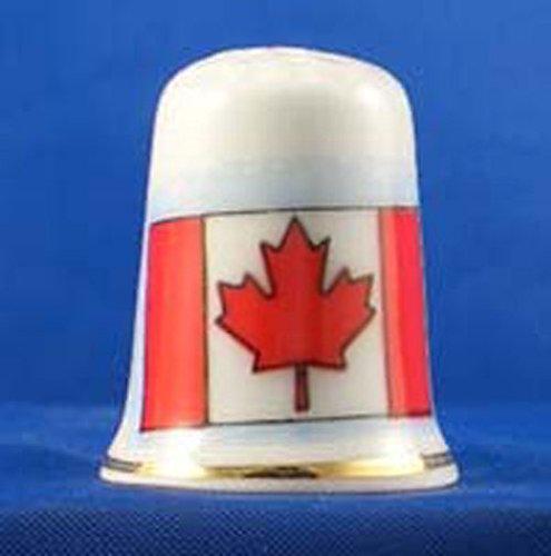 Porzellan China zum Sammeln Fingerhut Flagge von Kanada