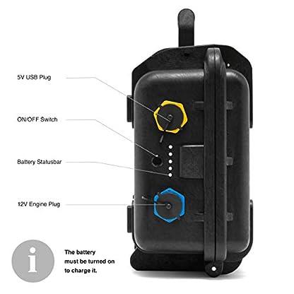 Belly Boat Batterie Ladegerät Stecker Eingänge