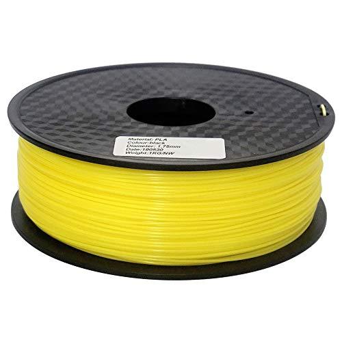 CCH-YS Materiales, Impresora 3D 1pc PLA Filamento Filamento 1,75 mm de Dimensiones Precisión +/- 0,02 mm 1kg 343m 2.2 Libras 3D el Material de impresión en Forma for Ender 3 Anet (Color : Yellow)